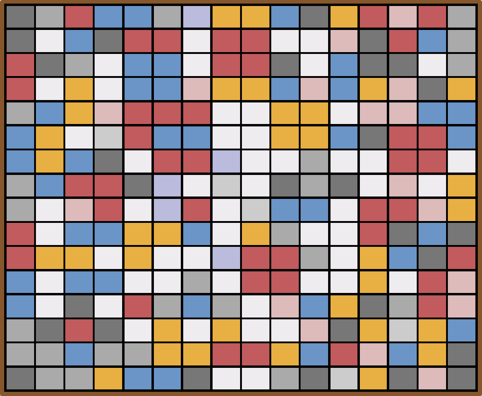Screenshot of the Mondrian collection on CodePen